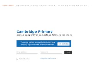 cambridgeprimary.cie.org.uk screenshot