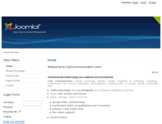 camcommunicator.com screenshot