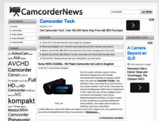 camcordernews.de screenshot