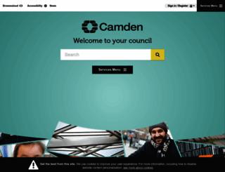 camden.gov.uk screenshot