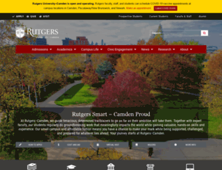 camden.rutgers.edu screenshot