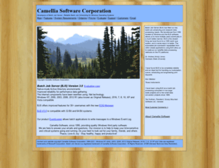 camelliasoftware.com screenshot