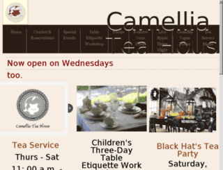 camelliateahouse.net screenshot