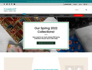 camelotfabrics.com screenshot