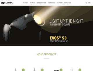 cameolight.com screenshot