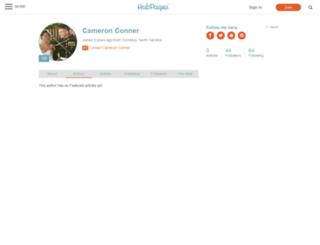 cameronconner.hubpages.com screenshot