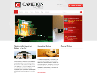 cameronhotels.net screenshot