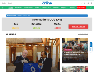 cameroun-online.com screenshot