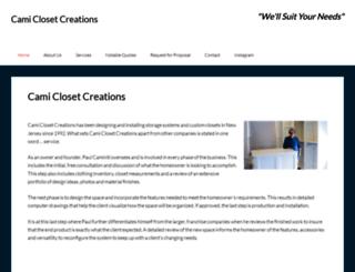camiclosetcreations.com screenshot