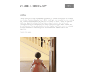 camillaridleydaybridal.com screenshot