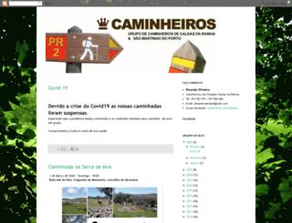 caminheirosdascaldas.blogspot.pt screenshot