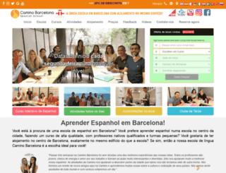 caminobarcelona.br.com screenshot