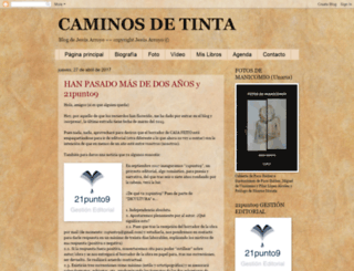 caminosdetinta.blogspot.com screenshot