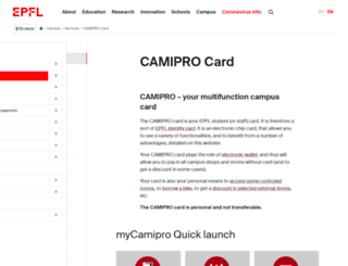 camipro.epfl.ch screenshot