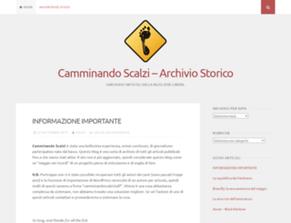 camminandoscalzi.it screenshot
