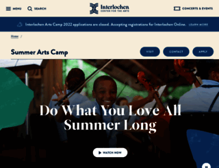 camp.interlochen.org screenshot