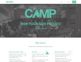 camp.sprinkle.ai screenshot