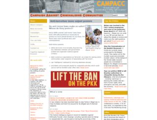 campacc.org.uk screenshot