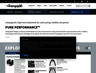 campagnolo.com screenshot