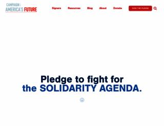 campaignforamericasfuture.org screenshot