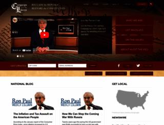 campaignforliberty.com screenshot