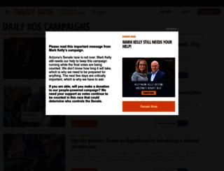 campaigns.dailykos.com screenshot