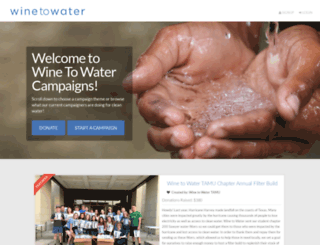 campaigns.winetowater.org screenshot