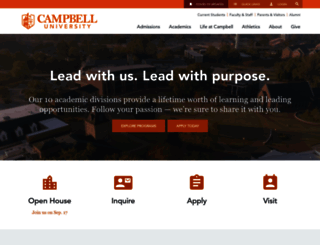 campbell.edu screenshot