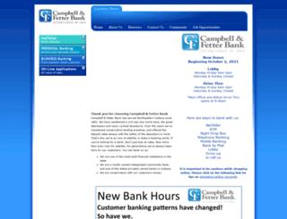 campbellfetterbank.com screenshot