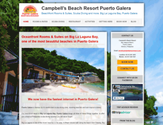 campbellsbeachresort.com screenshot