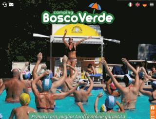 campeggioboscoverde.com screenshot
