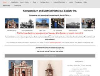 camperdownhistory.org.au screenshot