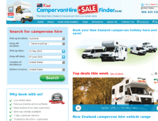 campervanhiresalefinder.co.nz screenshot