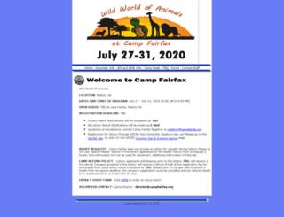 campfairfax.org screenshot