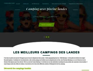 camping-adour-landes.com screenshot