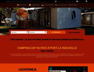 camping-cap-du-roc.com screenshot