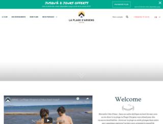 camping-caravaning-lepontdargens.com screenshot