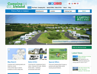 camping-ireland.ie screenshot