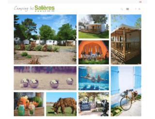 camping-les-salieres.com screenshot