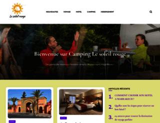 camping-lesoleilrouge.com screenshot