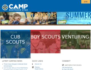 camping.northernstarbsa.org screenshot