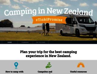 camping.org.nz screenshot
