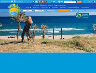 campingcabopino.com screenshot