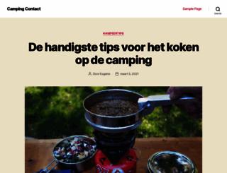 campingcontact.nl screenshot