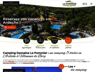 campinglepommier.com screenshot