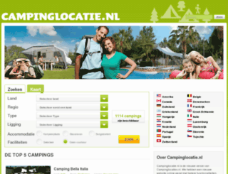 campinglocaties.nl screenshot