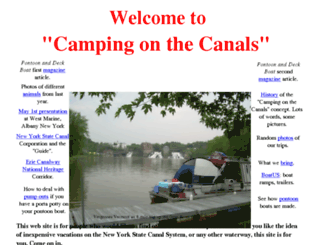 campingonthecanals.com screenshot