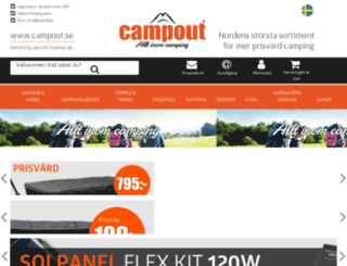 campingoutlet.se screenshot
