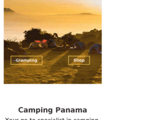 campingpanama.net screenshot