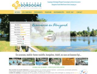 campings-dordogne.com screenshot